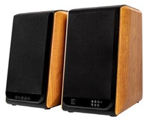 "Hybrid - Hybrid+ PM FIVE Mahogany 5"" Active + Passive Bookshelve Speakers"